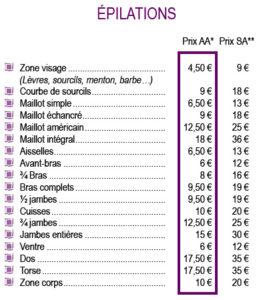 tarif-epilations